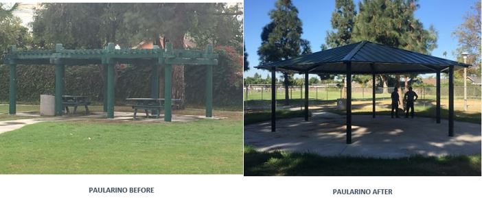 Improvements done at paularino and pinkley parks city of for Costa mesa motor inn